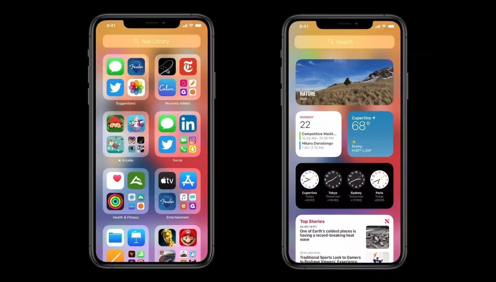 iOS 14 Widgets en App Library